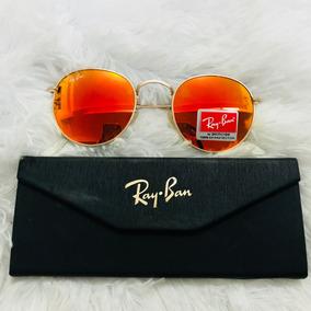 803be8cdf Oculos Redondo Espelhado Laranja De Sol - Óculos no Mercado Livre Brasil