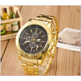 Relógio Masculino Dourado Frete Gratis