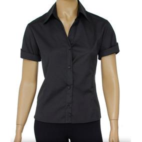 7b4e4aab49 Blusa Social Feminino Para Uniforme - Blusas para Feminino no ...