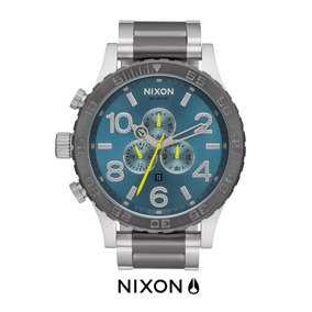 Reloj Nixon 51-30 Chrono Gunmetal Aqua Original Y Nuevo