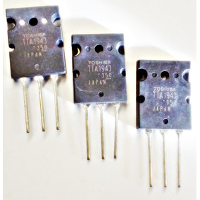 Transistor Tta 1943 Saida De Audio Novo Kit Com 3 Unidades