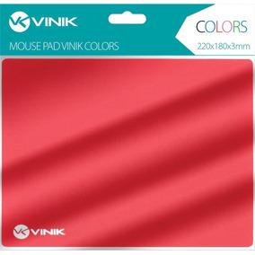 Mouse Pad Vinik Colors Vermelho