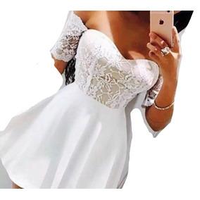 Vestidos cortos en blonda elegantes