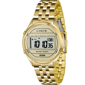 Relógio Lince Feminino Digital Dourado Sdph020lbxkx