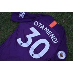 Camiseta Manchester City 2019 Violeta Otamendi Aguero Mahrez