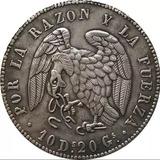 Réplica Moneda Chilena 8 Reales 1839 Rompiendo Cadenas