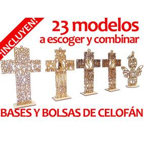 50 Cruz Ángel Con Oración De 15 Cm Recuerdo Bautizo Madera