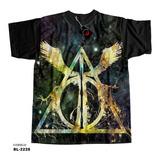 Camiseta Harry Potter E As Relíquias Da Morte