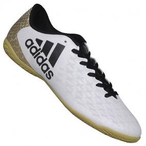 9e62e92eeb Chuteira Futsal Junior Ace 16.4 Adidas Branco preto dourado ...