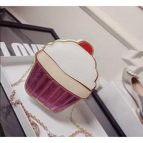 Bolsa Cupcake - Bolsa de Couro Sintético Femininas no Mercado Livre ... 177ff2a701a