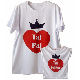 ae2ceabf17 Kit Camisetas Tal Pai Tal Filho Times Do Coração Santos - Calçados ...
