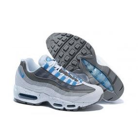 963a1e256aa Tenis Nike Air Max 95 Branco Com Azul Frete Gratis