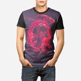 87f2880824 Camisa Camiseta Astronauta Shark Attack Full Promoção