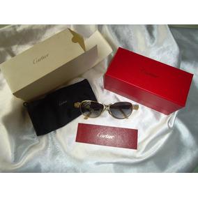 Raro Óculos Sol Cartier White Croco Leather Banho 24k,paris