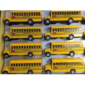 Kit Caixa Miniatura Ônibus Escolar Com 12 Unidades