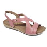 Usaflex Sandália Extra Conforto Anatômica R1804 Old Pink
