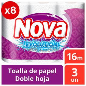Toalla Nova Evolution Pack X8 24u De 16m Tienda Oficial Nova