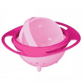 Prato Giratorio 360 Infantil Bebe Rosa Nao Derrama Alimentos