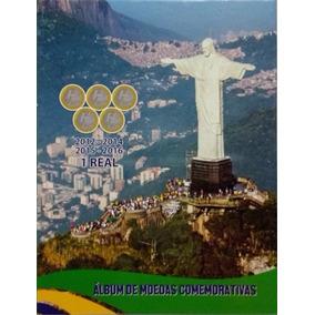 Lote 10 Albuns Para Moedas Olímpicas Olimpiadas Rio2016