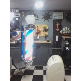 Barber Pole Grande Década 70 Restaurado