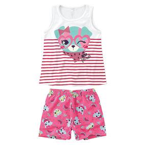 75b4ab4f2cd1e Pijama Estampado Menina - Malwee Liberta-branco-1