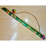 Flauta Peruana Madera Decorada