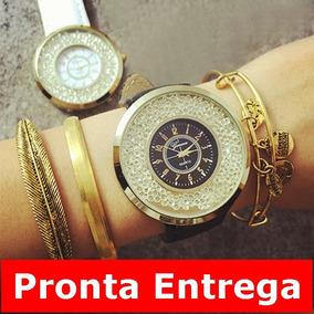 e0f32983978 Relógio Geneva Com Strass Produto Importado - Relógios De Pulso no ...