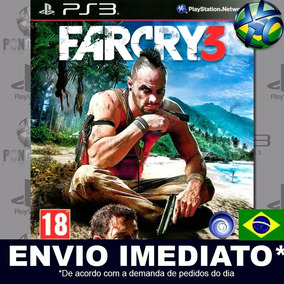 Jogo Ps3 Far Cry 3 Psn Play 3 Legendas Pt Br Mídia Digital