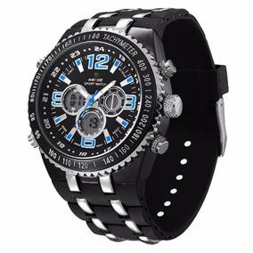 21924933be9 Relogio Masculino Weidei Anadigi Casual Prata Wh 2309 - Relógios De ...