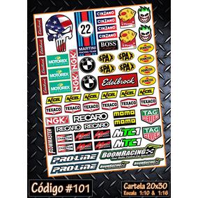 Cartelas Adesivos Automodelo Radio Controle Bolha 1/10 1/16
