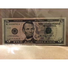 Cédula Nota Cinco (5) Dólares Americanos - Dollar Coleção