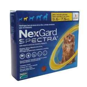 Nexgard Spectra 3.6 - 7.5kg Para Pulgas Y Garrapatas