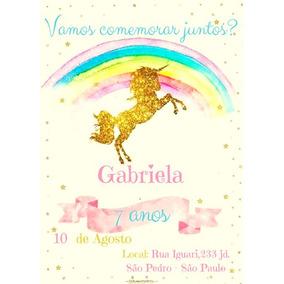 Unicórnio Convite Convites De Casamento No Mercado Livre Brasil