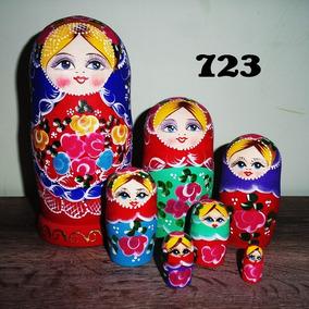 Bonecas Russas Matrioska 723 7peças 21-22cm Mamuska Frete G