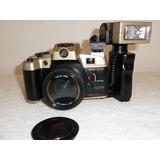 Antigua Cámara Canon Q5200 Con Flash Vintage