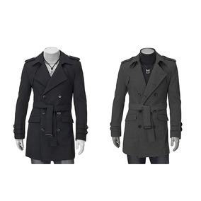 Hombres abrigo negro