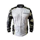 Camisa Ziper Camuflada Proteção 35+ Apache Da Pesca