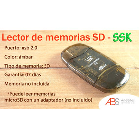 Lector Tarjeras Memoria Sd Y Mini Sd Ssk - Promo 3x5mil