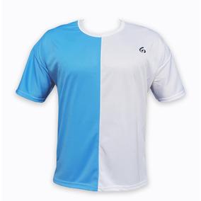 2d64a0238bdd9 Camiseta Futbol Azul Blanco - Camisetas en Mercado Libre Argentina
