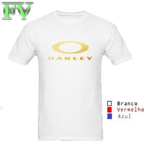Camisa Oakley Branca E Dourada - Calçados c17f0a8a739