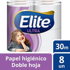 Papel Higiénico Elite 8u Doble Hoja Ultra 30m Tienda Elite