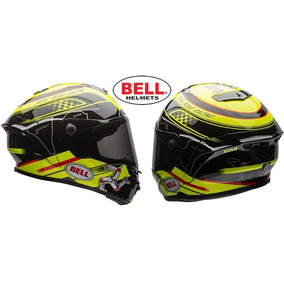 Capacete Moto Bell Star Isle Of Man Yellow Black 58/m