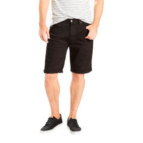 Bermuda Jeans Levis Masculina 501 Original Hemmed Preta