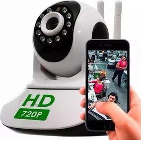 Câmera Ip Wireless Segurança Filma Grava Visão Noturna Wifi