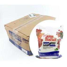 Caixa Massa Polycol Natural 12un Biscuit Artesanato