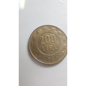 200 Lire Moeda Antiga Da Republica Italiana De 1981