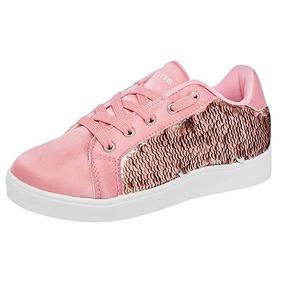 Tenis Casual Jeans Shoes Lentejuelas Reversibles U79571 Rosa 9808452fff2