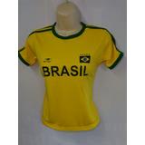 cf3916cb18 Camisa Do Brasil Feminina - Camisa Brasil Feminina no Mercado Livre ...