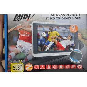 Gps Midi Japan Md-5599 Isdb-t 5 Lcd - Tv Digital