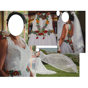 fd7d6f2bd Vestidos De Novia De Manta Bordados - Vestidos Blanco en Distrito ...